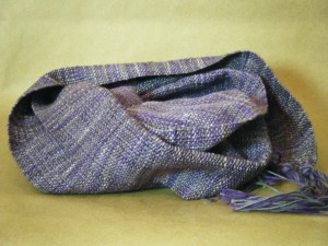 Made from beautiful purple and grey painted merino Italian wool and cotton. This scarf will keep you warm. $45