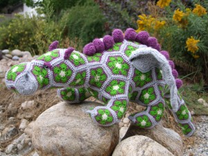 Gorbash the African Flower Dragon Designed by Heidi Bears, ravelry.com Created by Line and Loops, Tasha Andrusky